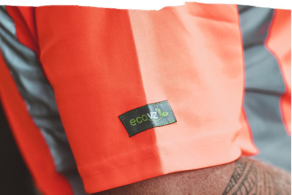 EcoViz Recycled Workwear Greener Safety paint