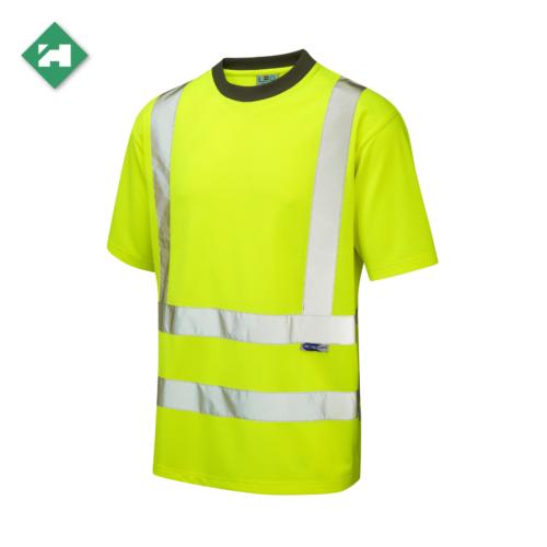 HV0070_EcoViz Polyester T-Shirt_Yellow