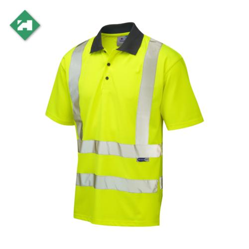 HV5001_EcoViz Short Sleeve Polo Shirt_Yellow