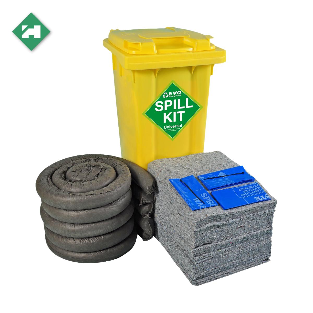 SC1200_Evo 120 Litre Spill Kit In Wheelie Bin