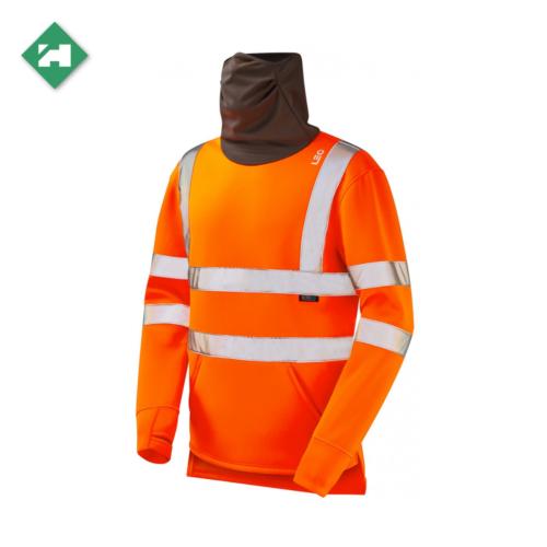 WW1288_Eco-Vis Hi-Vis Snood Sweatshirt_Orange