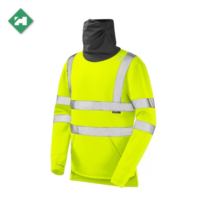 WW1288_Eco-Vis Hi-Vis Snood Sweatshirt_Yellow